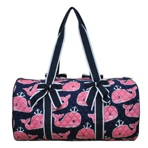 Handbags - Whale Quilted Duffel Bag